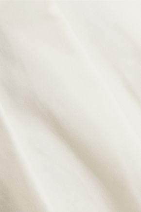HALSTON HERITAGE Stretch-cotton and chiffon mini dress