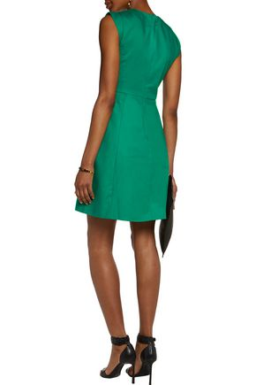 HALSTON HERITAGE Halston flared cotton-blend mini dress