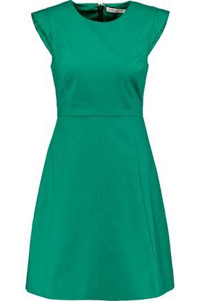 HALSTON HERITAGE Halston flared cotton-blend mini dress