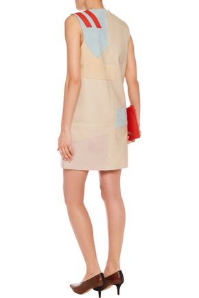 ACNE STUDIOS Helima suede and leather mini dress