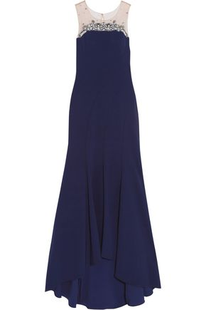 MARCHESA NOTTE Bead embellished gown