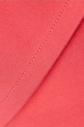 HALSTON HERITAGE Cutout stretch-jersey mini dress
