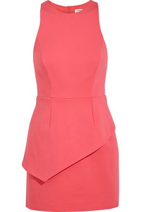 HALSTON HERITAGE Cutout stretch-jersey mini dress