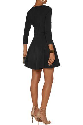 HALSTON HERITAGE Cutout stretch-ponte mini dress