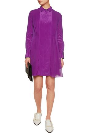 3.1 PHILLIP LIM Gathered silk-crepe mini shirt dress