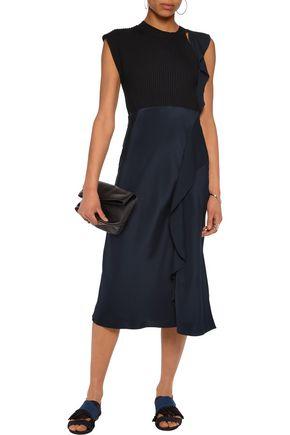 3.1 PHILLIP LIM Ruffled wool-blend and silk dress