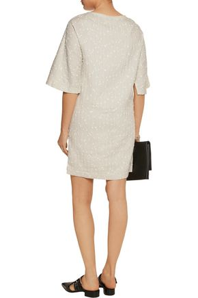 3.1 PHILLIP LIM Striped cotton-blend bouclé mini dress