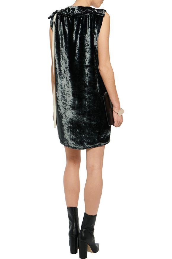Rozenne velvet mini dress | ACNE STUDIOS | Sale up to 70% off | THE OUTNET