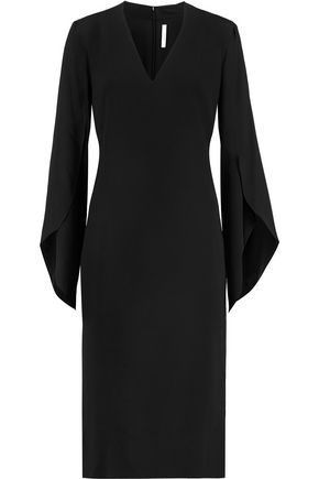 DION LEE Circle draped crepe midi dress