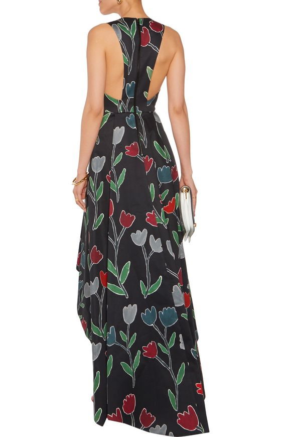 Beckie asymmetric printed cotton-blend dress   ALICE+OLIVIA   Sale up to 70%  off   THE OUTNET