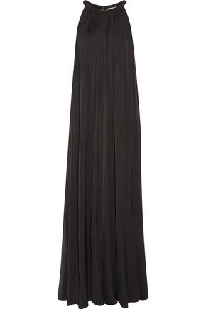 VINCE. Sunburst pleated satin maxi dress