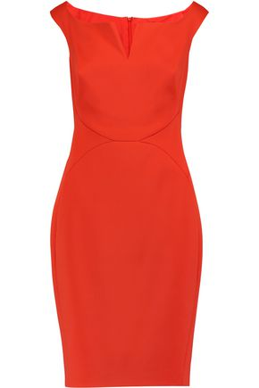 ZAC POSEN Bonded crepe dress