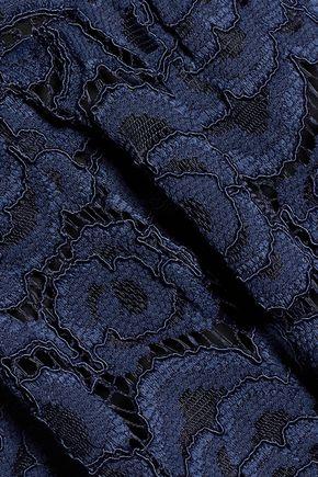 ALICE + OLIVIA Corded lace midi dress