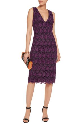 ALICE + OLIVIA Preslee macramé lace dress