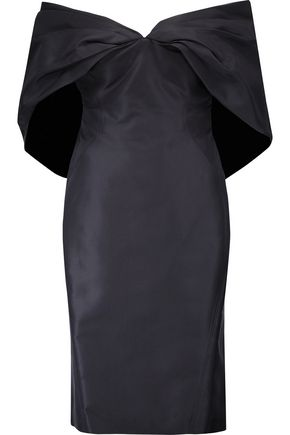 ZAC POSEN Off-the-shoulder silk-faille dress