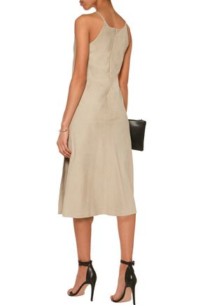 THEORY Suede midi dress