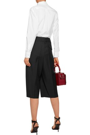 JIL SANDER Wool-blend shorts