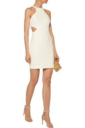 CINQ À SEPT Juno cutout cady mini dress