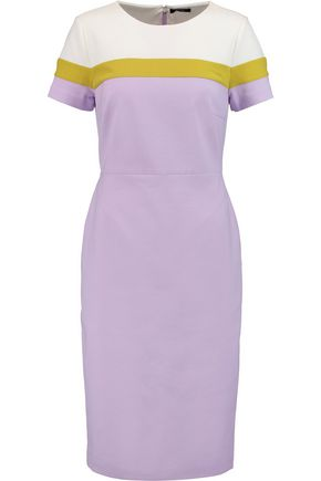 RAOUL Ruthie paneled crepe dress