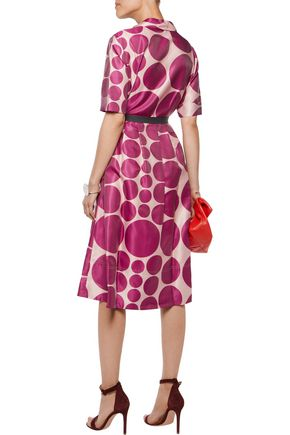 RAOUL Ava printed satin-twill dress