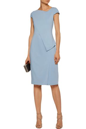 RAOUL Trista layered ruched crepe dress