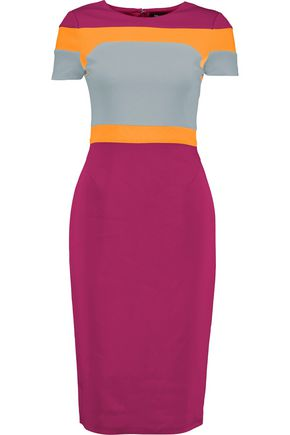 RAOUL Trinity color-block crepe dress