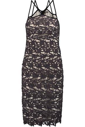 RAOUL Gale guipure lace dress
