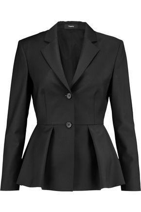 THEORY Braneve wool-blend peplum blazer