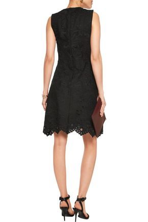 THEORY Jemion embroidered linen and cotton-blend mini dress