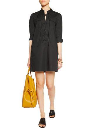 THEORY Jullitah lace-up stretch-cotton poplin mini dress