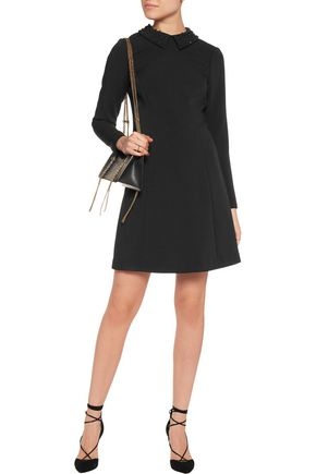 MICHAEL MICHAEL KORS Crystal-embellished crepe mini dress
