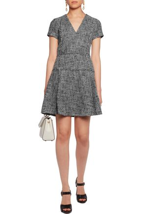 MICHAEL MICHAEL KORS Frayed tweed mini dress