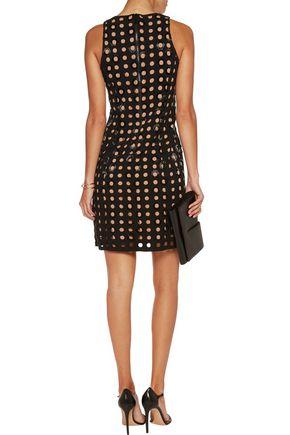 MICHAEL MICHAEL KORS Bead-embellished laser-cut crepe dress
