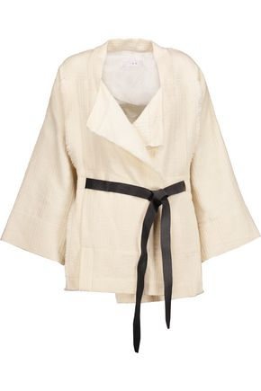 IRO Ambar frayed cotton-blend jacket