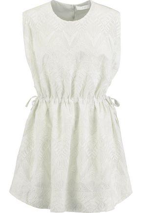 IRO Miu embroidered voile mini dress