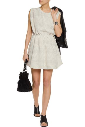 IRO Miu embroidered voile mini dress
