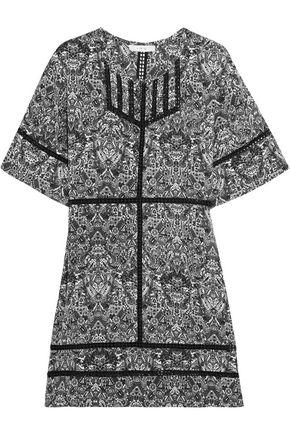 IRO Tawney crochet-trimmed printed georgette mini dress