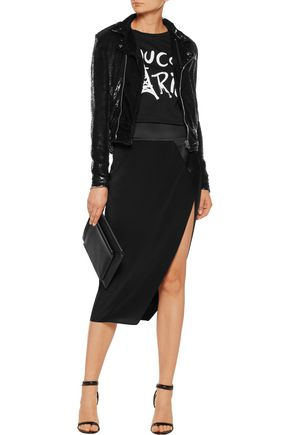 IRO Heleny sequined crepe biker jacket