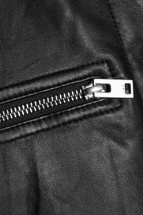 IRO Colombe Teddy leather bomber jacket
