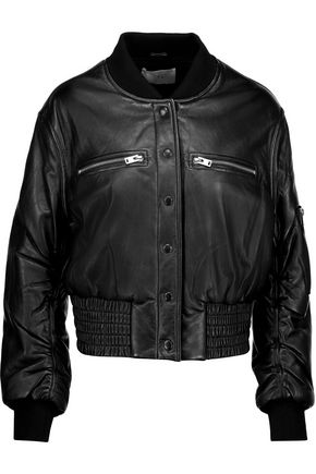 IRO Colombe Teddy leather bomber jacket