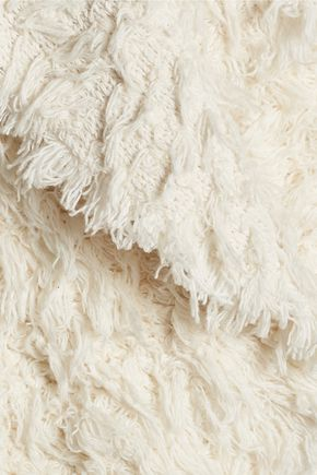 IRO Bellay fringed cotton-blend cardigan