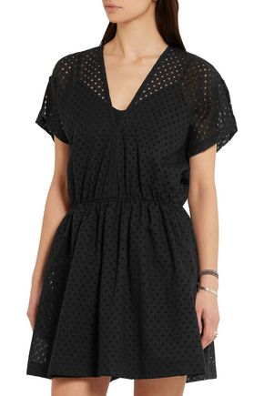 IRO Genna broderie anglaise cotton-blend mini dress