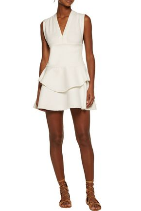 IRO Tammy silk-trimmed cotton-blend mini dress