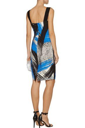 MILLY Lorena printed crepe dress