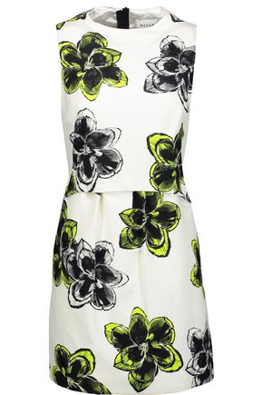 MILLY Astrid floral-print cotton-blend mini dress