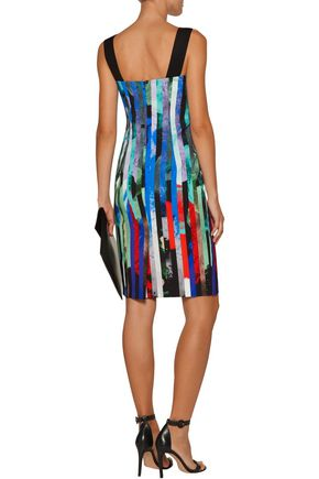 MILLY Lorena printed crepe dress