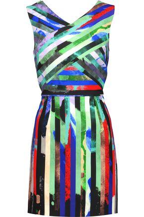 MILLY Mirage striped cady mini dress