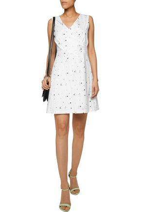 MARC BY MARC JACOBS Wrap-effect printed stretch-cotton mini dress