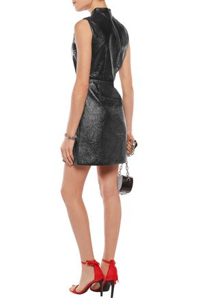 MARC BY MARC JACOBS Coated textured cotton-blend mini dress