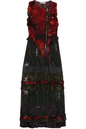 GIVENCHY Ruffled printed silk-georgette midi dress